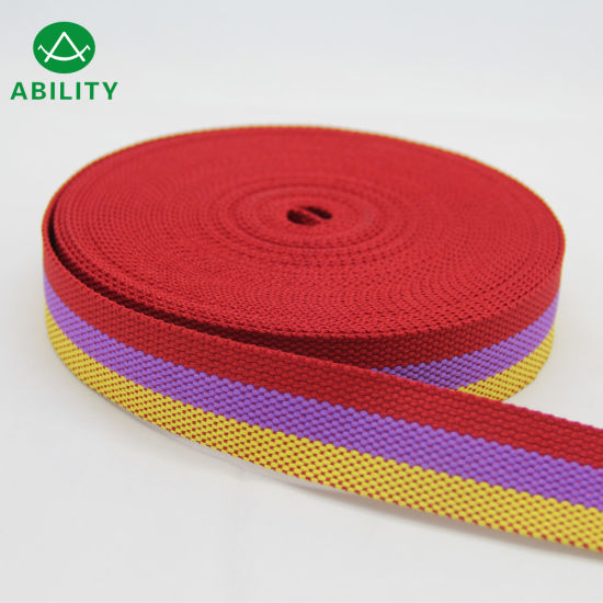 30mm Polyester Nylon Polypropylene Juacquard Stripe Waistband Woven Elastic Tape