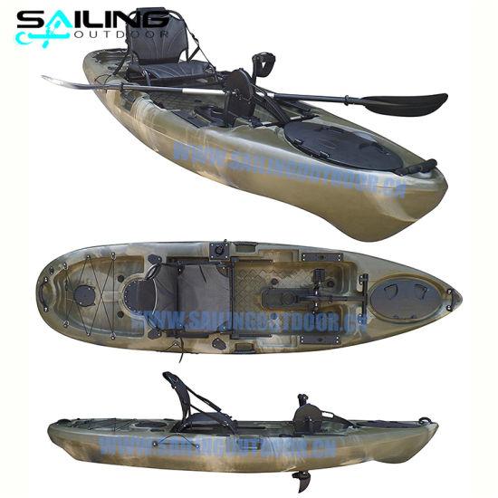 10FT Plastic Water Boat Canoe Foot Pedal Drive Fish Kayak