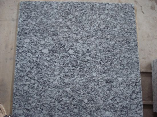 Natural Stone Polished White Granite, White Wave Cut to Size Tile/Slab for Stair/Countertop/Vanity Top pictures & photos