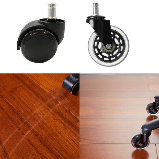 10pcs Office Chair Caster Wheel Swivel Wood Floor Home Furniture Replacement