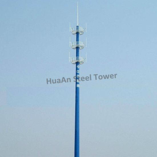 Hot DIP Galvanized Steel Single Tube Communication Monopole Pole
