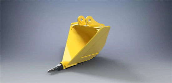 Chinese V Type Komatsu Ditching Excavator Bucket With Four Teeth