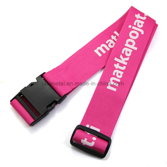 Custom New Product Travel Polyester Luggage Belt with Lock pictures & photos