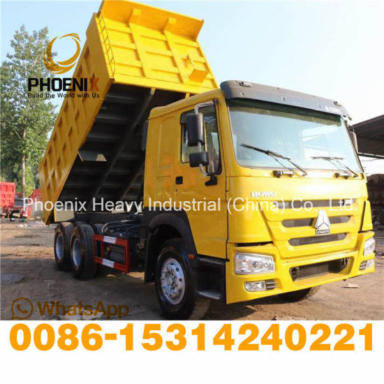 Right Hand Used Sinotruk HOWO Good Condition Tipper 10 Tires Middle Lift Dump Truck with Good Price for Africa Market