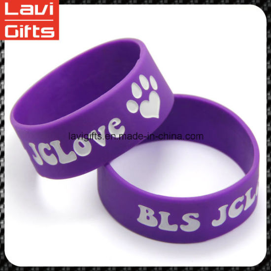 Beautiful Cheap Silicone Rubber Bracelet with Logo pictures & photos
