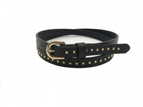 Factory Direct China Fashion Gold Rivet Fancy Ladies PU Belts pictures & photos