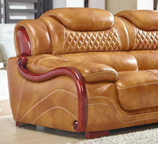 New Arrival Modern Leather Sofa, Europe Style Sofa (A62)