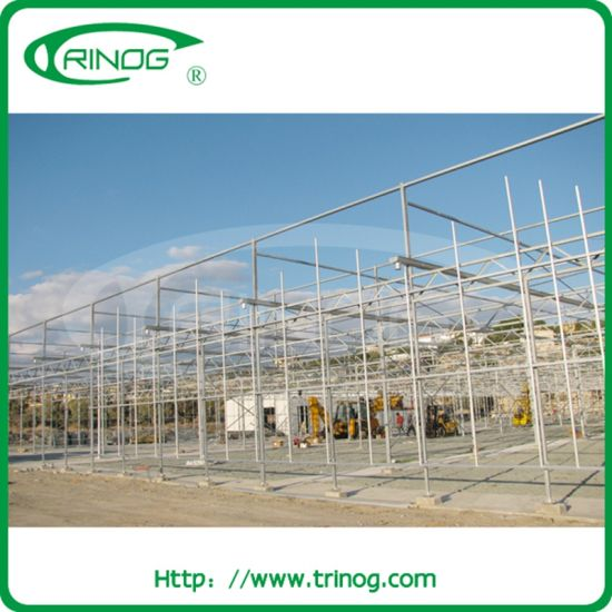 Modern agricultural glass greenhouse for commercial use