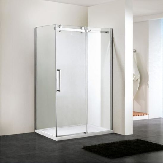 Shower Enclosure 8mm Glass Big Roller Stainless Steel Sliding Door