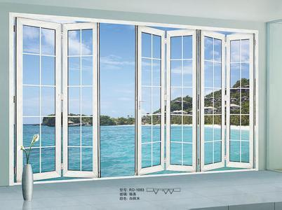 Woodwin Main Product Double Tempered Glass Aluminum Folding Door pictures & photos