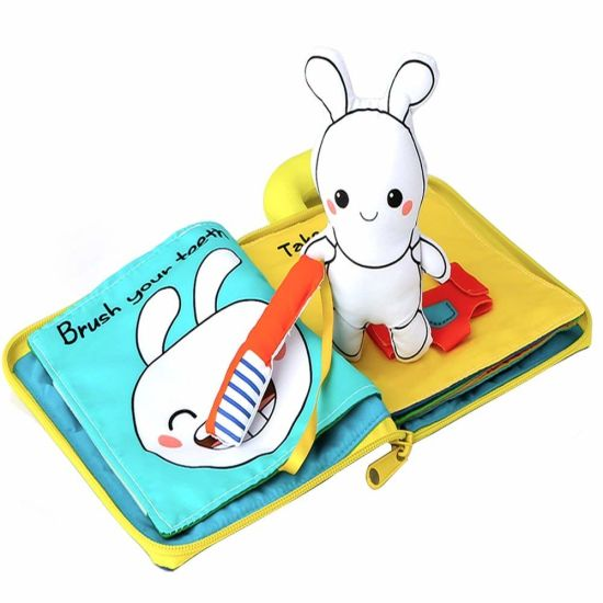 Baby Soft Cloth Book for Learning Animals for Infant Educational Toys