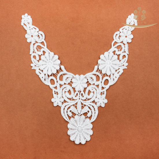 L60014 Wholesale Women High Quality Collar Lace Neck Trim for Garment Accessory