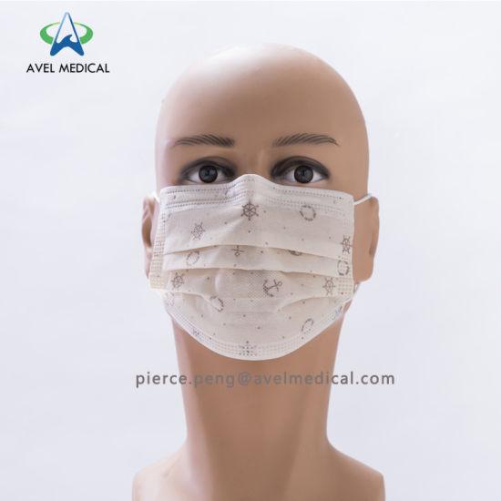 Face Mask Printing Children Woven Cartoon Non