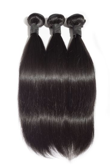 "10"" Short Hair Weaving 100% Authentic Human Hair Best Quality Remy Hair Black Color Silk Straight"