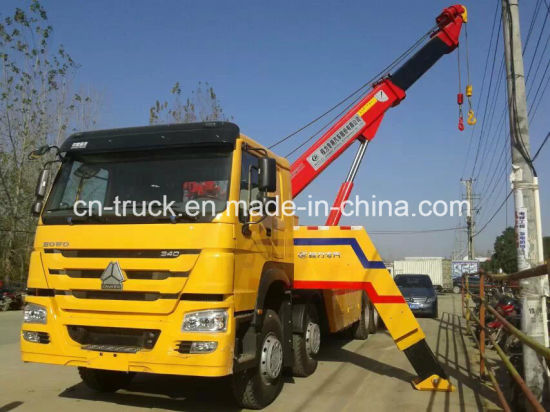 China Good Quality HOWO 8X4 50ton Emergency Wrecker Tow Truck pictures & photos