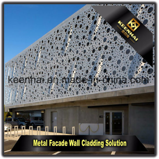 China Decorative Exterior Peforated Wall Cladding Aluminium Facade ...