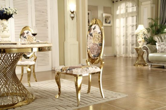 High Quality Rose Gold Metal Dining Chair Wholesale Wedding Chairs