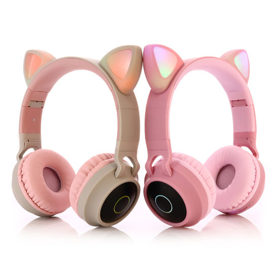Wholesale Beats Handsfree Noise Cancelling Stereo Gaming Cat Ear Wireless Bluetooth Earphone Headphones with Microphone