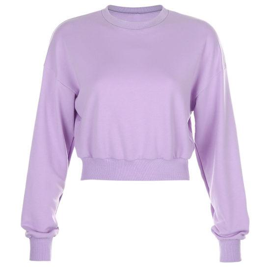 Wholesale Price Custom Crop Top Ribbed Hem Hoodies Women Crop Sweatshirt with Your Label