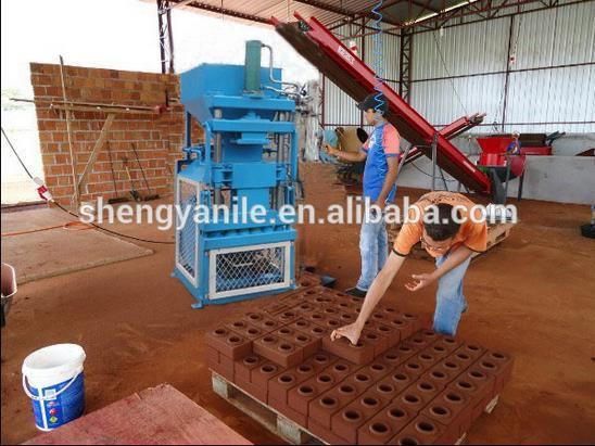 Shnegya Brand Durable Sy1-10 Semi-Automatic Clay Interlocking Brick Making Machine Sale pictures & photos
