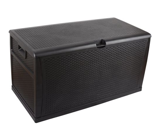 Plastic Resin Rattan Style Storage Box.