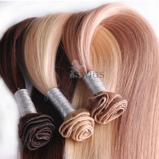 Hand Tie Virgin Remy Hair Brazilian Human Hair pictures & photos