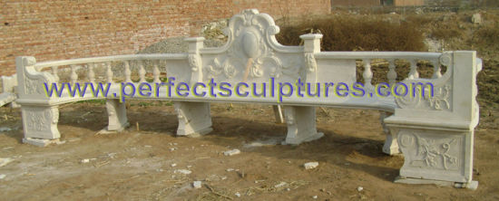 Antique Garden Chairs with Stone Marble Granite Sandstone (QTC055) pictures & photos