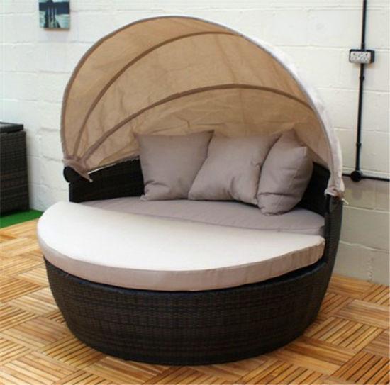 Mr-6048 Hot Selling Lazy Boy Recliner Chair Wicker Garden Bed