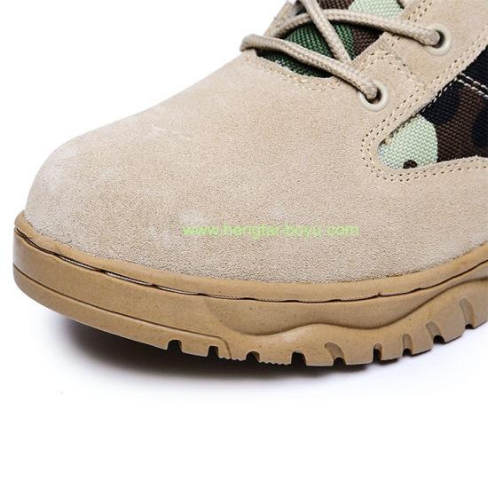 Mens Army Military Jungle Boots Suede Leather Desert Boots Combat Outdoor Work Anti-Slip Lace up Water Resistant Boots