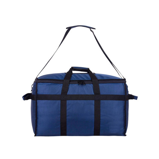 Insulated Delivery Bags with Shoulder Strap, Base Insert for Support & Divider for Catering, Grocery, or Doordash; Large Commercial Carrier Transport Bag