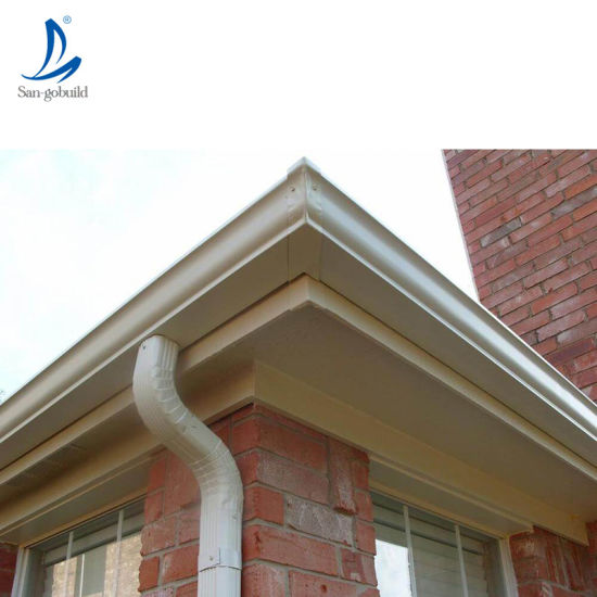 China Philippines House Roofing Rainwater Drainage System Aluminum Alloy Roof Gutter China Downspout Fittings Roof Water Collector