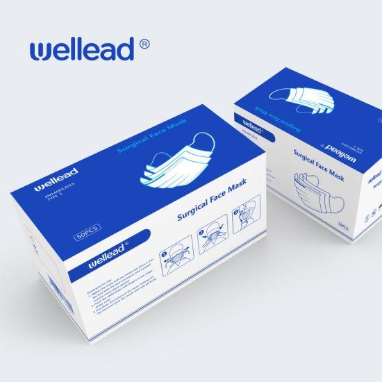 Disposable Medical Surgical Ce Protective Ear Loop & Tie on Non-Woven 3ply Facial Melt-Blown Non-Woven Face Mask