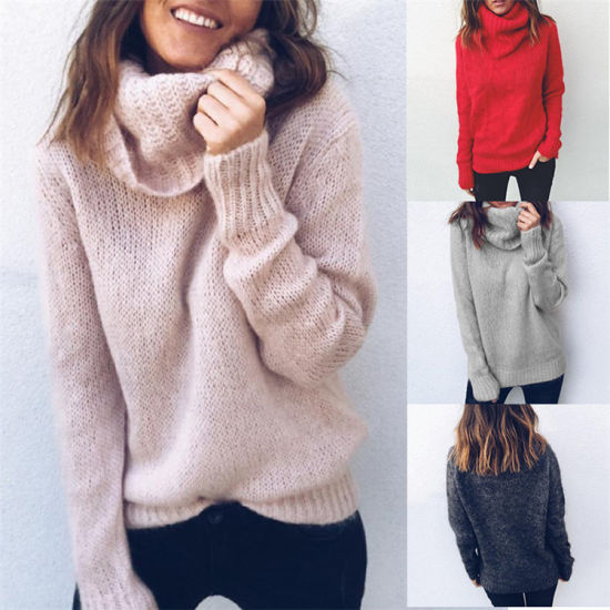 Hot Selling Custom Round Neck Knitted Sweater Woman