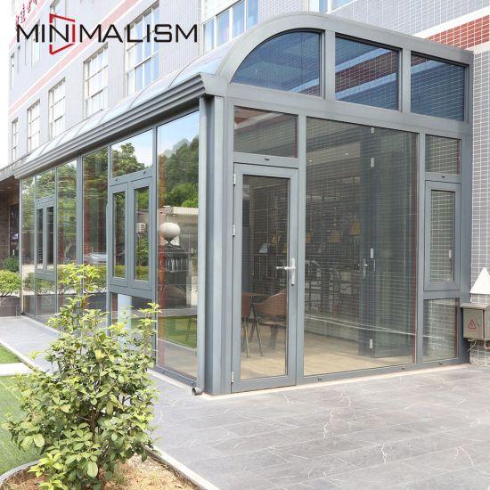 Aluminium Frame Structure Sunroom with Laminated Glass Window for Typhoon Resist/Winter Garden/Sun Room/Glass House/Aluminum Door and Window Sunroom
