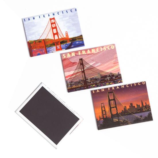 China Manufacture Tin Plate Metal Soft PVC Souvenir Custom Tin Fridge Magnet