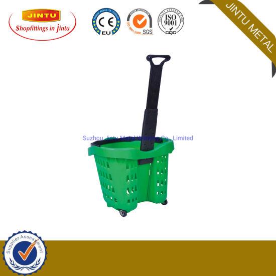 Plastic Shopping Basket/ Rolliing Basket 42L