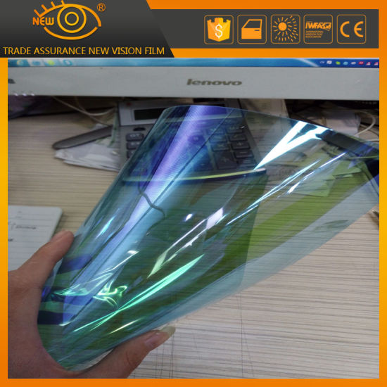 Blue to Green Scartch Proof Solar Window Chameleon Tint Film