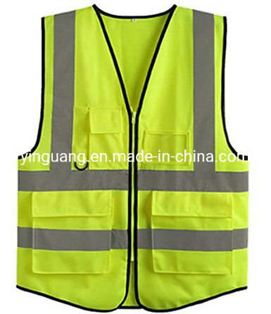 Reflective Safety Security Vest with Various Pockets 2020 Hot Sales Traffic Safety Vest