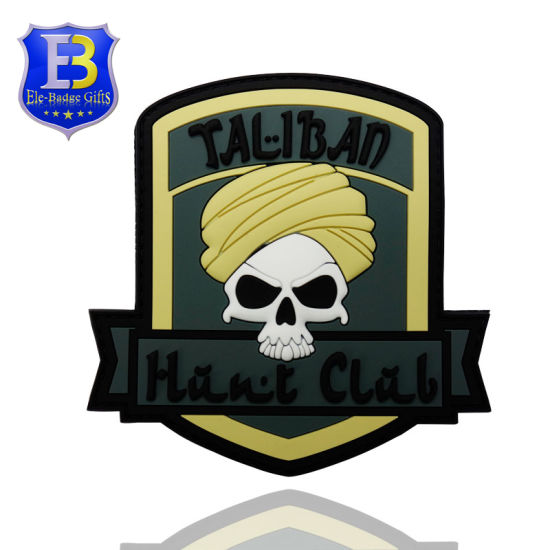 Wholesale Cheap Military Morale Pirate Punisher Skull Patch with Fastener Hook & Loop