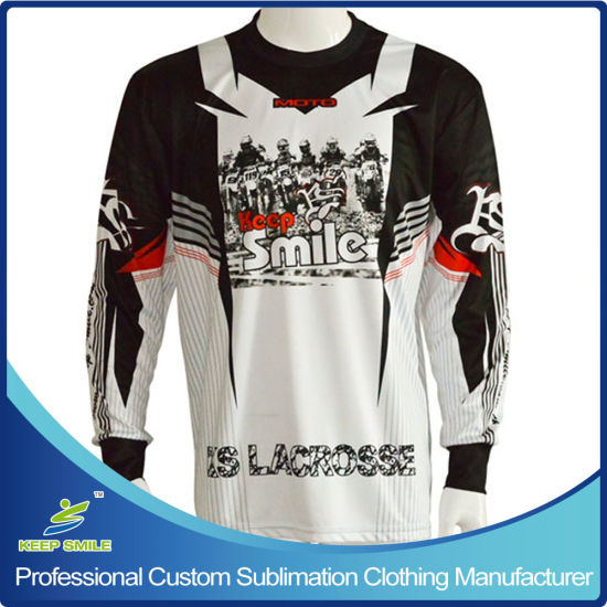 Customized Sublimation Men's Motocross Motorcycle Jersey with Custom Design