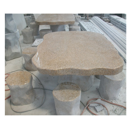 Outdoor Granite Stone Table Chairs Fine Workmanship Garden Ornaments pictures & photos
