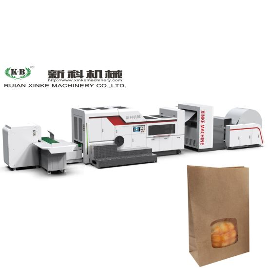 Automatic Bread Paper Bag Making Machine with PP Window Function