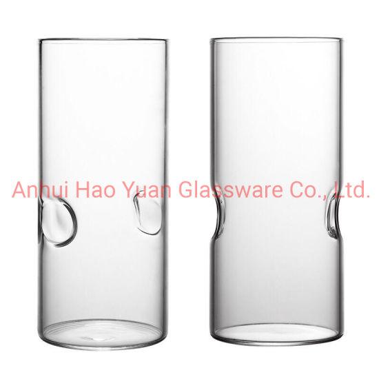 Free Sample 240-430ml Rock Highball Drinking Glass Tumbler Juice Glass