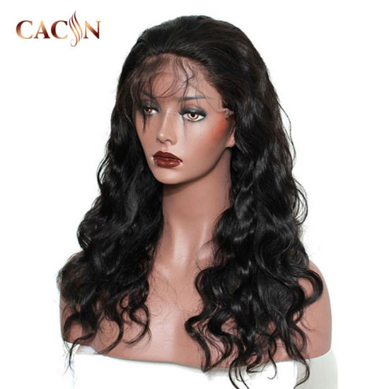 Wholesale 100 Percent Full Cuticle Indian Remy Material Women Virgin Human Hair Custom Lace Front Wig