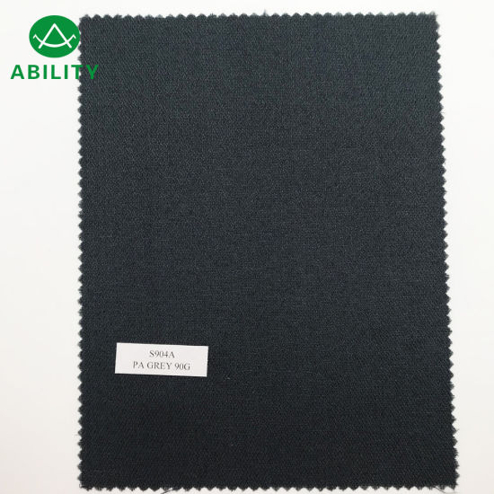 S904A 100% Polyester Grey Warp Knitted Interlinings with PA Coated for Suits pictures & photos