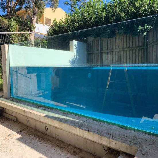 China Extra Thick Sgp Clear Laminated Glass Swimming Pool ...