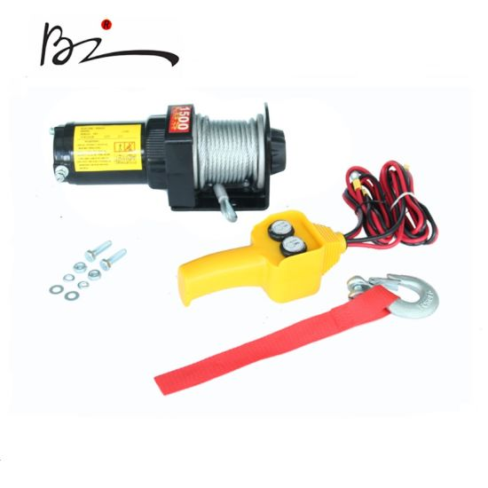 ATV Electric Winch with 1500lb Pulling Capacity