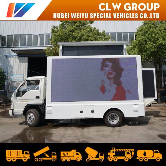 New Forland Outdoor Road Advertising Truck LED Screen Lifting with Mobile Stage