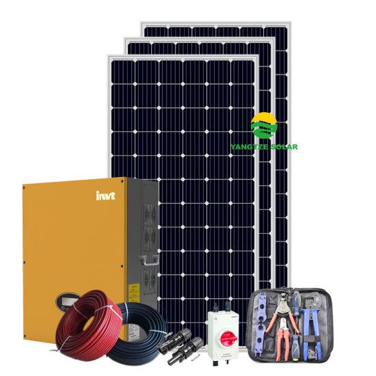 High Efficient Roof AC Solar System 5kw 5000W on Gird