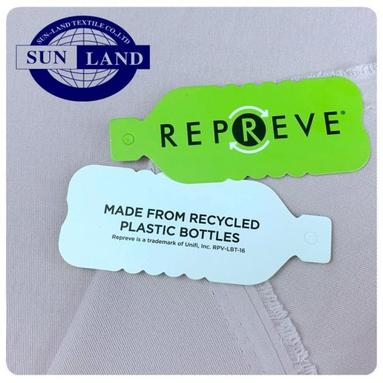 China Basic Knitting Lining Clothing 100 Bottle Recycled Polyester 75D Light Weight Single Jersey Fabric